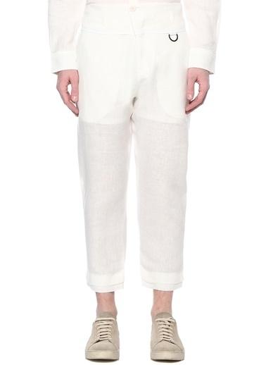 Isabel Benenato Pantolon Beyaz